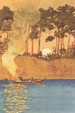 Pêche au Flambeau. Source : http://data.abuledu.org/URI/505cab33-peche-au-flambeau