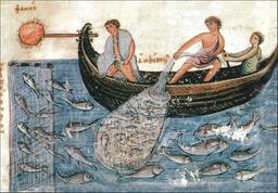 Pêche au lamparo dans l'antiquité. Source : http://data.abuledu.org/URI/52cddc5a-peche-au-lamparo-dans-l-antiquite