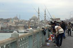 Pêcheurs à la ligne à Istanbul. Source : http://data.abuledu.org/URI/59da9e56-pecheurs-a-la-ligne-a-istanbul