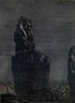 Peer Gynt et la statue de Memnon. Source : http://data.abuledu.org/URI/51a2943c-peer-gynt-et-la-statue-de-memnon