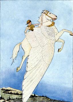 Pégase, le cheval ailé. Source : http://data.abuledu.org/URI/5022ae35-pegase-le-cheval-aile