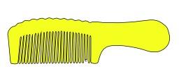 Peigne à cheveux jaune. Source : http://data.abuledu.org/URI/53a845d6-peigne-a-cheveux-jaune