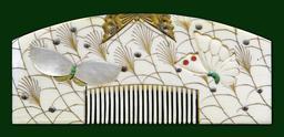 Peigne japonais du dix-neuvième siècle. Source : http://data.abuledu.org/URI/53a8952d-peigne-japonais-du-dix-neuvieme-siecle
