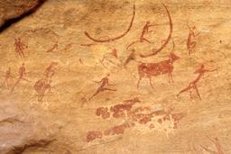 Peintures rupestres du Tassili. Source : http://data.abuledu.org/URI/52d06ac0-peintures-rupestres-du-tassili