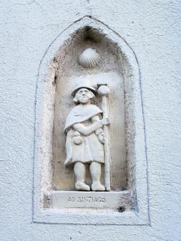 Pélerin de Compostelle à Isle-Saint-Georges. Source : http://data.abuledu.org/URI/5827e940-pelerin-de-compostelle-a-isle-saint-georges