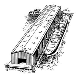Péniche à quai. Source : http://data.abuledu.org/URI/53b9a11e-peniche-a-quai