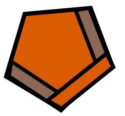 Pentagone orange et marron. Source : http://data.abuledu.org/URI/518035b1-pentagone-orange-et-marron