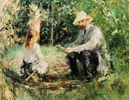 Père et fille au jardin. Source : http://data.abuledu.org/URI/503e9885-pere-et-fille-au-jardin