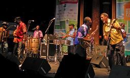 Performance de l'orchestre sénégalais Baobab. Source : http://data.abuledu.org/URI/54886788-performance-de-l-orchestre-senegalais-baobab