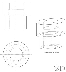 Perspective cavalière. Source : http://data.abuledu.org/URI/50e7f2d0-perspective-cavaliere