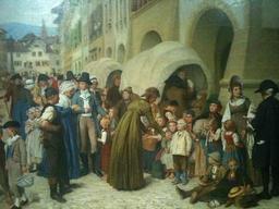 Pestalozzi et les orphelins. Source : http://data.abuledu.org/URI/519f1f05-pestalozzi-et-les-orphelins