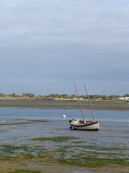 Petit voilier en bois à marée basse. Source : http://data.abuledu.org/URI/562fd644-petit-voilier-en-bois-a-maree-basse
