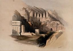 Petra en Jordanie en 1849. Source : http://data.abuledu.org/URI/54b5a7ad-petra-en-jordanie-en-1849