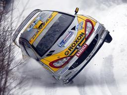 Peugeot 206 au Rallye de Suède 2003. Source : http://data.abuledu.org/URI/52ce88a0-peugeot-206-au-rallye-de-suede-2003