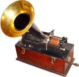 Phonographe d'Édison. Source : http://data.abuledu.org/URI/5248403e-phonographe-d-edison