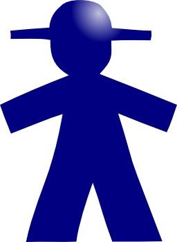 Pictogramme d'homme bleu. Source : http://data.abuledu.org/URI/50e4e4e7-pictogramme-d-homme-bleu