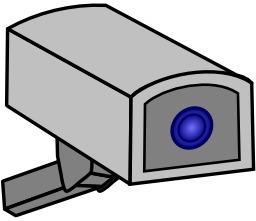 Pictogramme de caméra de surveillance. Source : http://data.abuledu.org/URI/53295dc8-pictogramme-de-camera-de-surveillance