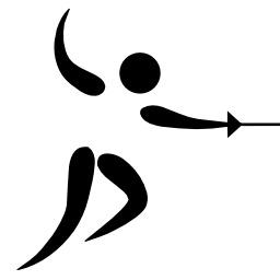 Pictogramme de l'escrime. Source : http://data.abuledu.org/URI/5029412c-pictogramme-de-l-escrime