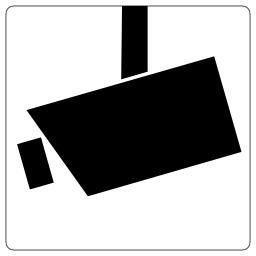 Pictogramme de vidéo surveillance. Source : http://data.abuledu.org/URI/53295779-pictogramme-de-video-surveillance