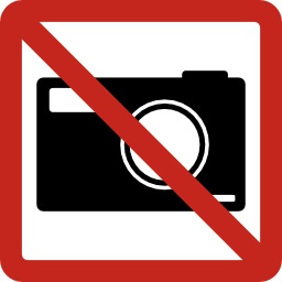 Pictogramme interdiction de photographier. Source : http://data.abuledu.org/URI/50e4e5a4-pictogramme-interdiction-de-photographier