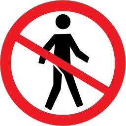 Pictogramme interdit aux piétons. Source : http://data.abuledu.org/URI/50e4e533-pictogramme-interdit-aux-pietons