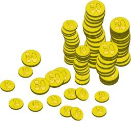 Pièces de monnaie. Source : http://data.abuledu.org/URI/504aef45-pieces-de-monnaie
