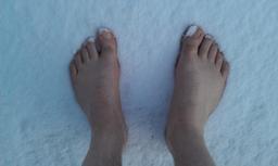 Pieds nus dans la neige. Source : http://data.abuledu.org/URI/5373a11a-pieds-nus-dans-la-neige