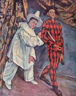 Pierrot et Arlequin. Source : http://data.abuledu.org/URI/51c171bd-pierrot-et-arlequin