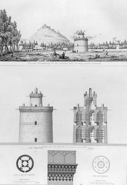 Pigeonnier à Isfahan en 1840. Source : http://data.abuledu.org/URI/565229bc-pigeonnier-a-isfahan-en-1840