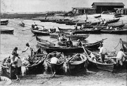 Pinasses dans le port de Gujan. Source : http://data.abuledu.org/URI/505caa4e-pinasses-dans-le-port-de-gujan