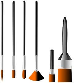 Pinceaux de tailles différentes. Source : http://data.abuledu.org/URI/53a9d984-pinceaux-de-tailles-differentes