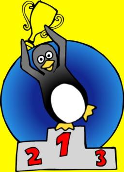 Pingouin sur le podium. Source : http://data.abuledu.org/URI/5878042b-pingouin-sur-le-podium