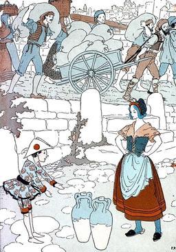 Pinocchio accepte de porter une jarre. Source : http://data.abuledu.org/URI/51a25128-pinocchio-accepte-de-porter-une-jarre