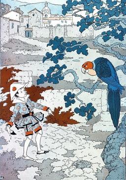 Pinocchio et le perroquet. Source : http://data.abuledu.org/URI/51a24fcd-pinocchio-et-le-perroquet