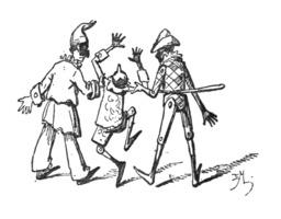 Pinocchio et les marionnettes. Source : http://data.abuledu.org/URI/51a22115-pinocchio-et-les-marionnettes