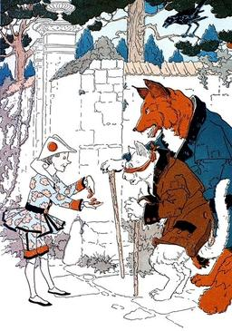 Pinocchio montre sa fortune au Renard et au Chat. Source : http://data.abuledu.org/URI/51a24f1a-pinocchio-montre-sa-fortune-au-renard-et-au-chat