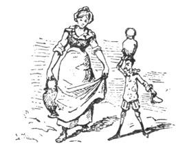 Pinocchio porte une jarre d'eau. Source : http://data.abuledu.org/URI/51a23673-pinocchio-porte-une-jarre-d-eau