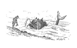Pinocchio salue le poisson. Source : http://data.abuledu.org/URI/51a23522-pinocchio-salue-le-poisson
