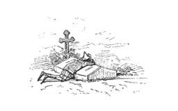 Pinocchio sur la tombe de la fée. Source : http://data.abuledu.org/URI/51a23443-pinocchio-sur-la-tombe-de-la-fee