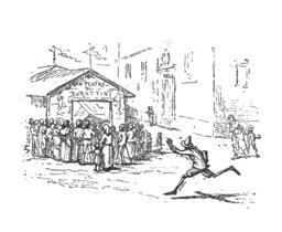 Pinocchio vend son livre pour une entrée au théâtre. Source : http://data.abuledu.org/URI/51a22034-pinocchio-vend-son-livre-pour-une-entree-au-theatre