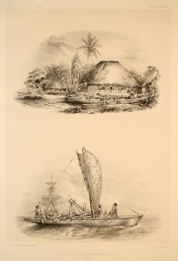 Pirogue des iles Samoa en 1838. Source : http://data.abuledu.org/URI/5980a101-pirogue-des-iles-samoa-en-1838