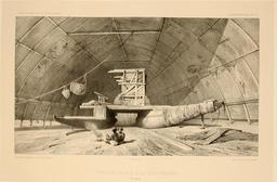 Pirogue double sous hangar en Polynésie en 1838. Source : http://data.abuledu.org/URI/5980a870-pirogue-double-sous-hangar-en-polynesie-en-1838