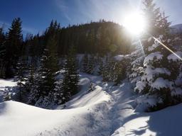 Piste dans la neige. Source : http://data.abuledu.org/URI/586a7c35-piste-dans-la-neige