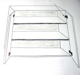 Placard de cuisine à trois étagères. Source : http://data.abuledu.org/URI/5369f745-placard-de-cuisine-a-trois-etageres