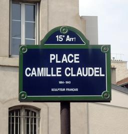 Place Camille-Claudel, Paris 15°. Source : http://data.abuledu.org/URI/54441f74-place-camille-claudel-paris-15-