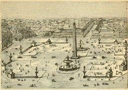Place de la Concorde en 1877. Source : http://data.abuledu.org/URI/524eff8a-place-de-la-concorde-en-1877
