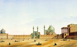 Place de Naqsh-e Jahan en 1840. Source : http://data.abuledu.org/URI/5651faf1-place-de-naqsh-e-jahan-en-1840