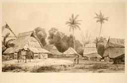 Place du village de Rajah Bassa à Sumatra. Source : http://data.abuledu.org/URI/59819650-place-du-village-de-rajah-bassa-a-sumatra