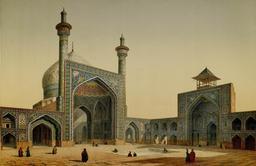 Place royale et mosquée Masjid Shah en 1840. Source : http://data.abuledu.org/URI/56520793-place-royale-et-mosquee-masjid-shah-en-1840