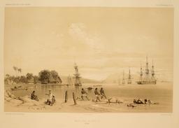 Plage de Papeete en 1838. Source : http://data.abuledu.org/URI/598097b3-plage-de-papeete-en-1838